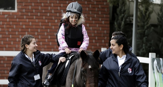 """Horse Therapy Center"" for disabled children opens in Turkey's Izmir"