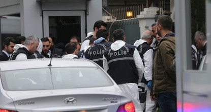 Turkish police searching Saudi consul's residence