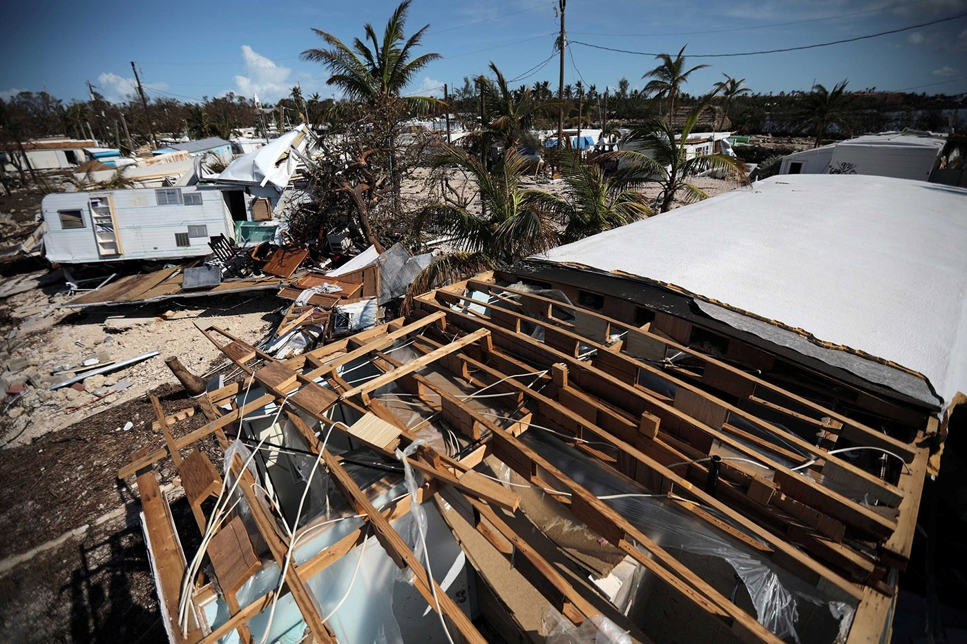 A destroyed trailer park is seen after Hurricane Irma strikes Florida, in Plantation Key in the Florida Keys, U.S., September 12, 2017. (Reuters Photo)