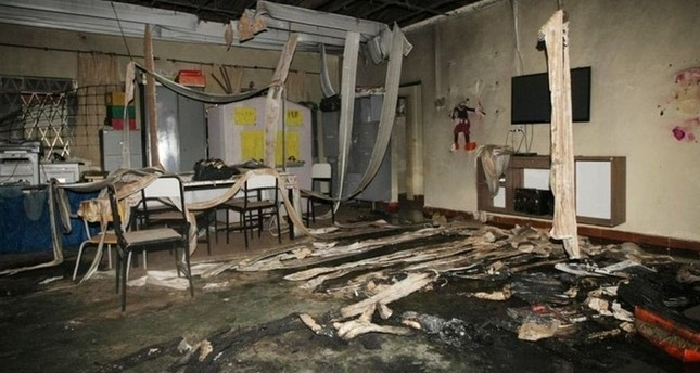 Remains of the nursery burnt down in Brazil's Janauba city (AFP Photo)