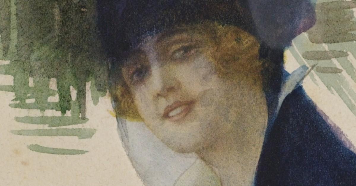 u201cSelf-portrait,u201d 1920, from Yapu0131 Kredi Collection.