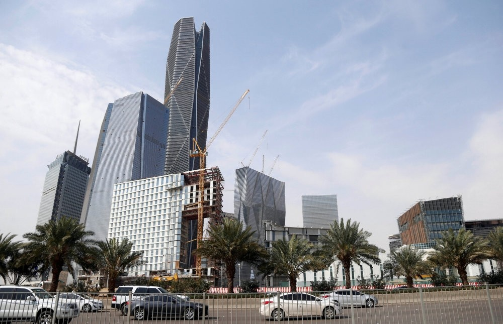 The King Abdullah Financial District north of Riyadh, Saudi Arabia,.