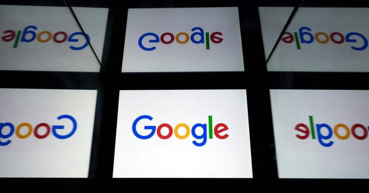 This file photo taken on Feb. 18, 2019, shows the Google logo displayed on a tablet in Paris. (AFP Photo)