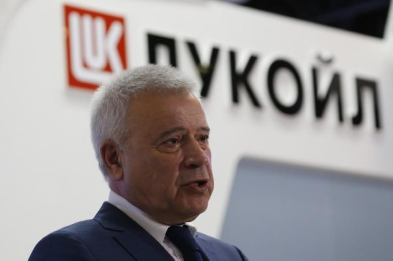 CEO of Lukoil company Vagit Alekperov talks to journalists at the St. Petersburg International Economic Forum 2016 (SPIEF 2016) in St. Petersburg, Russia, June 17, 2016. (Reuters Photo)