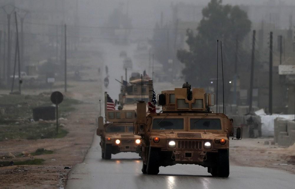 U.S. military vehicles on patrol in Manbij, northern Syria, Dec. 30, 2018.