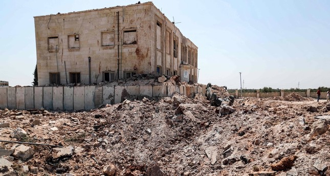 A health facility was hit by a reported regime airstrike after midnight in the town of Urum al-Kubra in the western countryside of Syria's Aleppo province, despite a unilaterally announced cease-fire, Aug. 31, 2019.