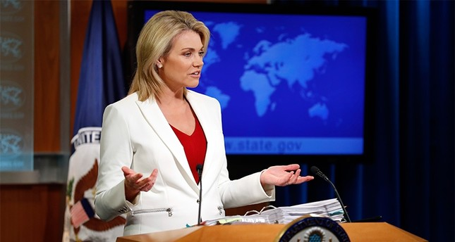 State Department spokeswoman Heather Nauert speaks during a briefing at the State Department in Washington, Wednesday, Aug. 9, 2017 (AP Photo)