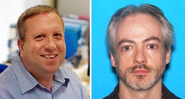 This photo shows Andrew Warren (L), an employee of the University of Oxford in Britain, and Wyndham Lathem (R), an associate professor of microbiology and immunology at Northwestern University. (Chicago Police Department via AP)
