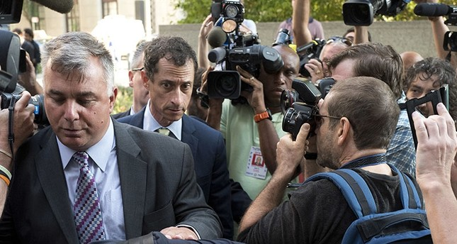 Former Congressman Anthony Weiner (D-N.Y.) arrives at federal court for his sentencing hearing in a sexting scandal, Monday, Sept. 25, 2017, in New York. (AP Photo)