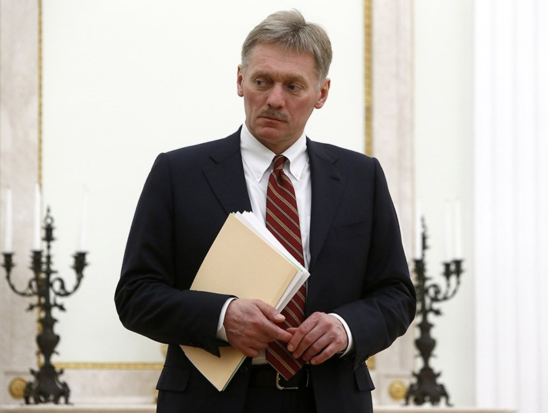 Kremlin spokesman Dmitry Peskov attends for the meeting of Russian President Vladimir Putin with Serbian Prime Minister at the Kremlin in Moscow, Russia, 27 March 2017. (EPA Photo)