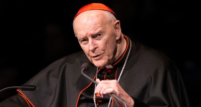 In this Wednesday, March 4, 2015, file photo, Cardinal Theodore Edgar McCarrick speaks during a memorial service in South Bend, Ind. (AP Photo)