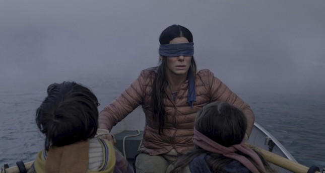 A scene from Bird Box.