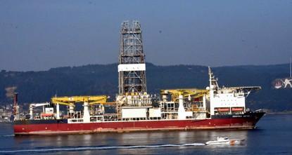 Second drillship passes through Çanakkale Strait