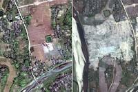Myanmar using bulldozers to erase Rohingya Muslim villages in Rakhine state