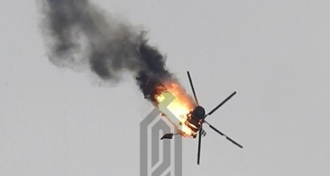 Regime helicopter downed in northwestern Syria