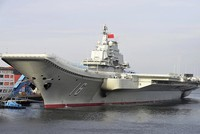 China's first aircraft Liaoning carrier has set off on Saturday for the Western Pacific for an open-sea training exercise, the Chinese Defense Ministry said.