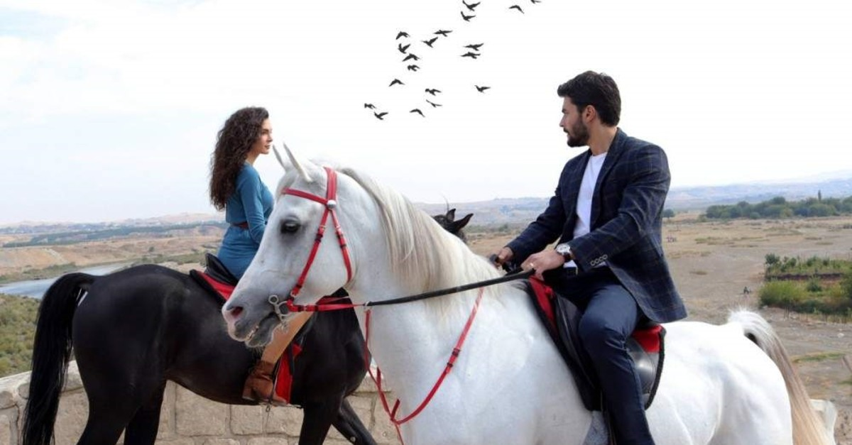 A scene from the TV series ,Hercai, (,A Fickle Heart,) broadcast on ATV.