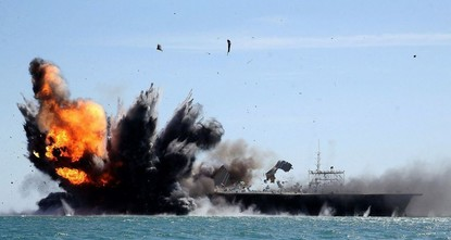 Iran's navy began an annual drill Sunday near the strategic Strait of Hormuz, its first major exercise since the inauguration of U.S. President Donald Trump, state television reported.br / br...