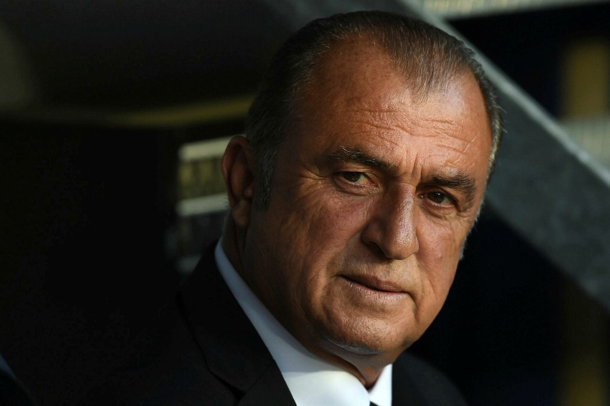This file photo taken on June 17, 2016 shows Fatih Terim looking on during the Euro 2016 group D football match between Spain and Turkey at the Allianz Riviera stadium in Nice. (AFP Photo)