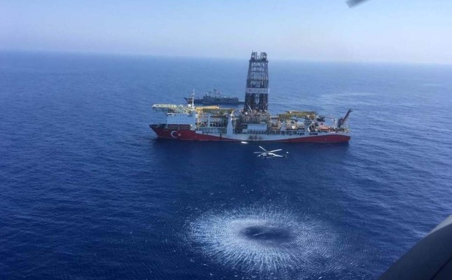 Turkey, as a guarantor nation for the Turkish Republic of Northern Cyprus TRNC, is currently carrying out hydrocarbon exploration activities in the Eastern Mediterranean with two drilling vessels, Dec. 3, 2019. DHA
