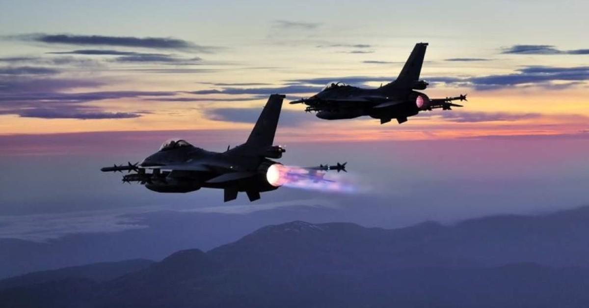 Turkish jets have killed eight PKK terrorists in an operation in northern Iraq, Feb. 16, 2020. (IHA PHOTO)