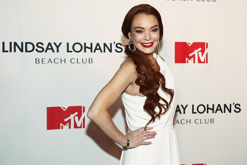 Lindsay Lohan attends MTV's ,Lindsay Lohan's Beach Club, series premiere party at Magic Hour Rooftop at The Moxy Times Square on Monday, Jan. 7, 2019, in New York. (Photo by Andy Kropa/Invision/AP)