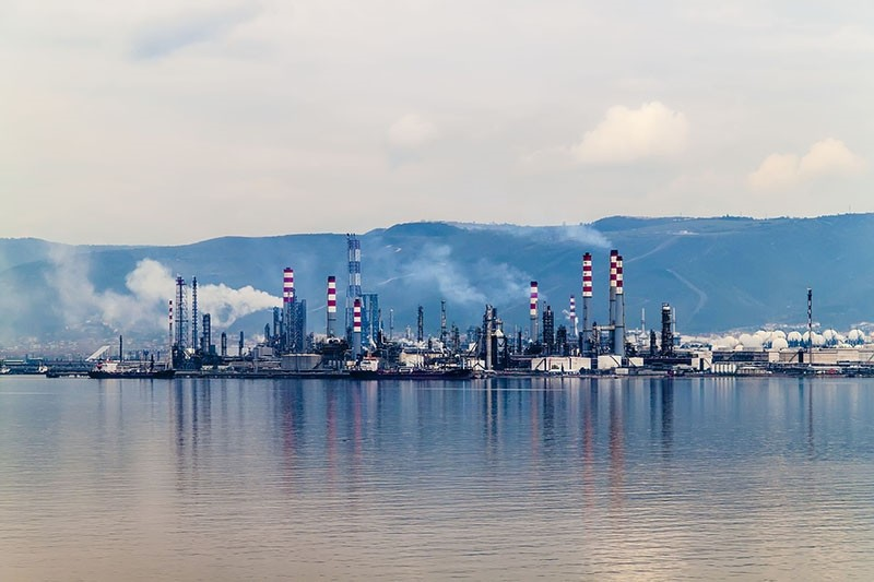 View of Tu00fcprau015f refinery in Kocaeli, Turkey.