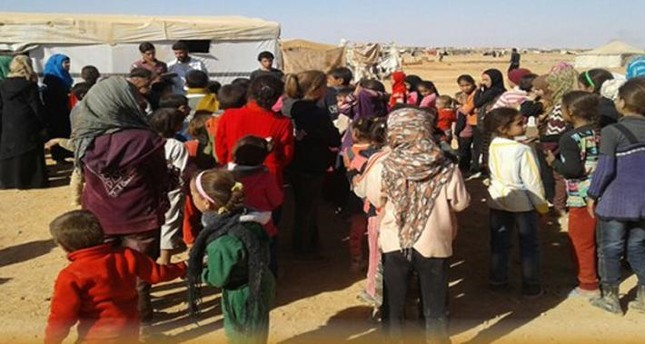 The Rukban refugee camp on the Jordan-Syria border is home to more than 50,000 Syrian refugees.