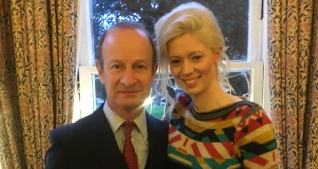 UKIP leader Henry Bolton and his 25-year-old girlfriend Jo Marney. Source: Twitter