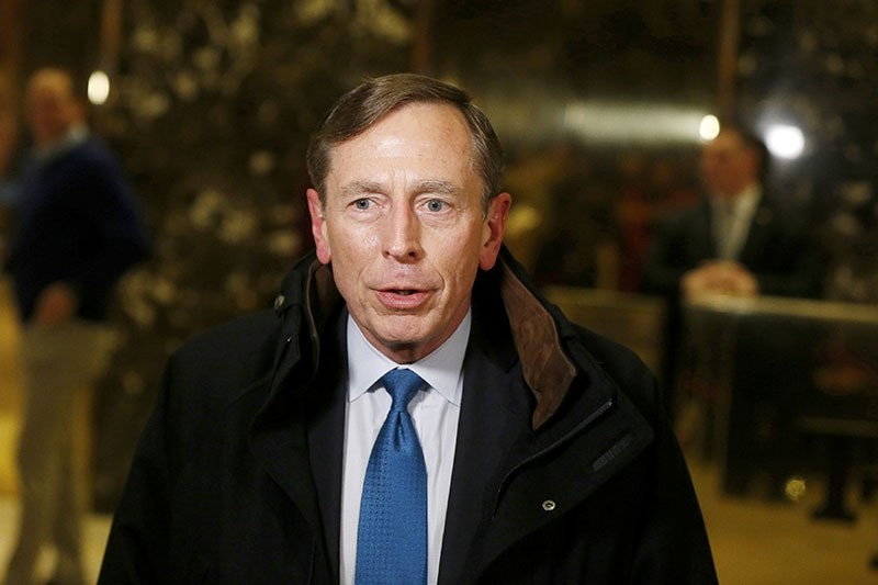 FILE PHOTO: Former CIA director David Petraeus speaks to the media after a meeting with U.S. President elect Donald Trump at Trump Tower New York, U.S., November 28, 2016. (Reuters File Photo)