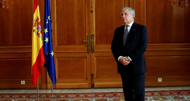 European Parliament chief Antonio Tajani stressed the growing threats over the European Union's unity and stability.