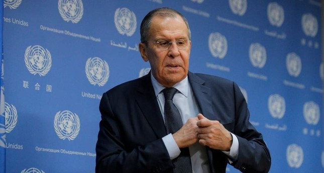 Sergey Lavrov gestures at a news conference on the sidelines of the 74th session of the United Nations General Assembly at U.N. headquarters in New York (Reuters Photo)