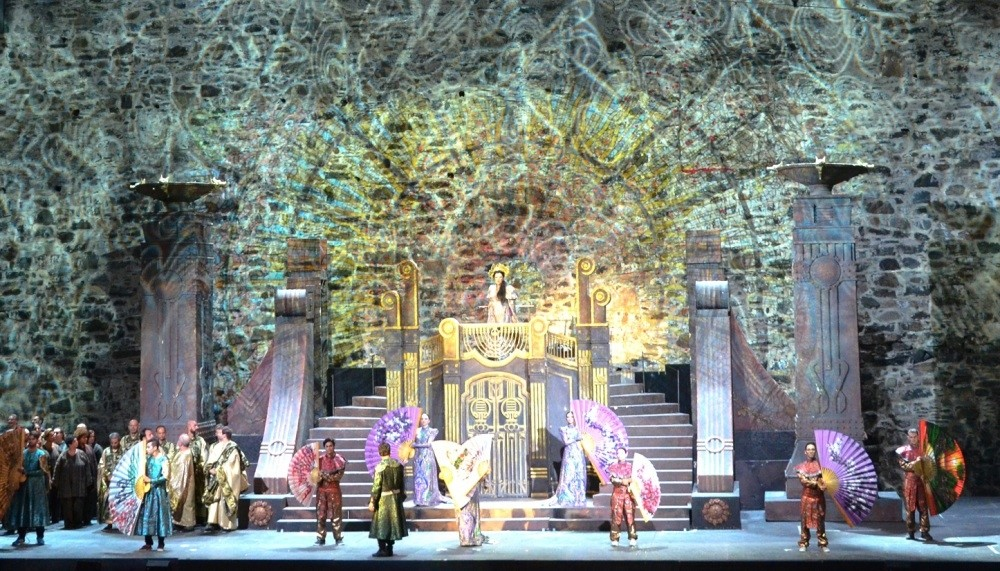A scene from ,Turandot, by the State Opera and Ballet.