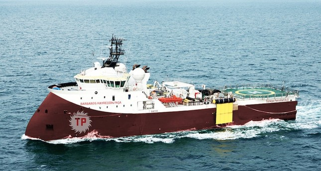 Barbaros Hayrettin Paşa set forth April 21 to survey the eastern Mediterranean for oil and gas resources. Archive Photo