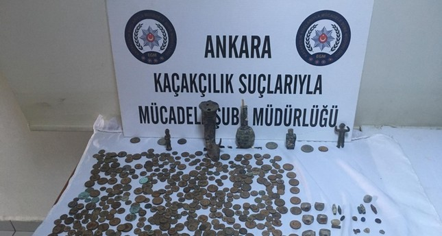 Police seize hundreds of historical artifacts in Ankara