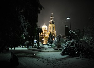 Sarajevo covered in snow
