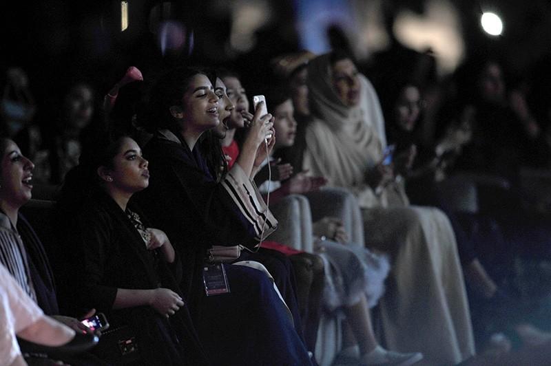 Saudi women attend a concert by Egyptian pop sensation Tamer Hosny in the western city of Jeddah  (AFP Photo)