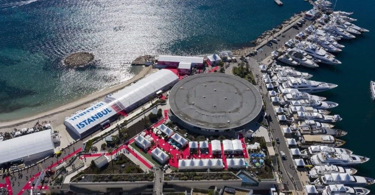 A view of the Istanbul Tent on the sidelines of MIPIM 2019, Cannes, France. (IHA Photo)