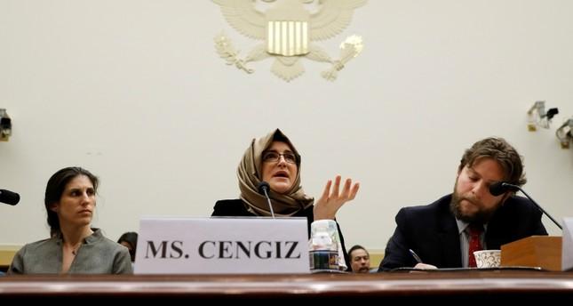 Khashoggi fiancee expresses hope of US Congress' action