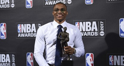 pOklahoma City Thunder point guard Russell Westbrook put the finishing touch on a magical season by being named the Most Valuable Player of the 2016-17 campaign on Monday at the NBA's inaugural...