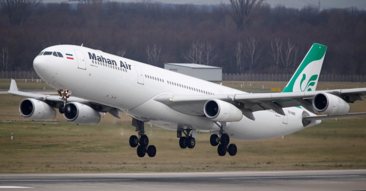 An Airbus A340-300 of Iranian airline Mahan Air takes off from Duesseldorf airport DUS, Germany Jan. 16, 2019. (Reuters Photo)