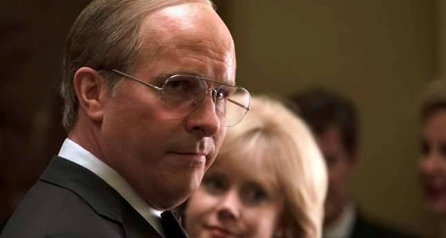 This image released by Annapurna Pictures shows Christian Bale as Dick Cheney, left, and Amy Adams as Lynne Cheney in a scene from Vice. AP Photo