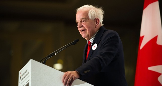 In this file photo taken on March 16, 2016, Canada's Immigration, Citizenship and Refugees Minister John McCallum speaks at the board of trade of Metropolitan Montreal. (AFP Photo)