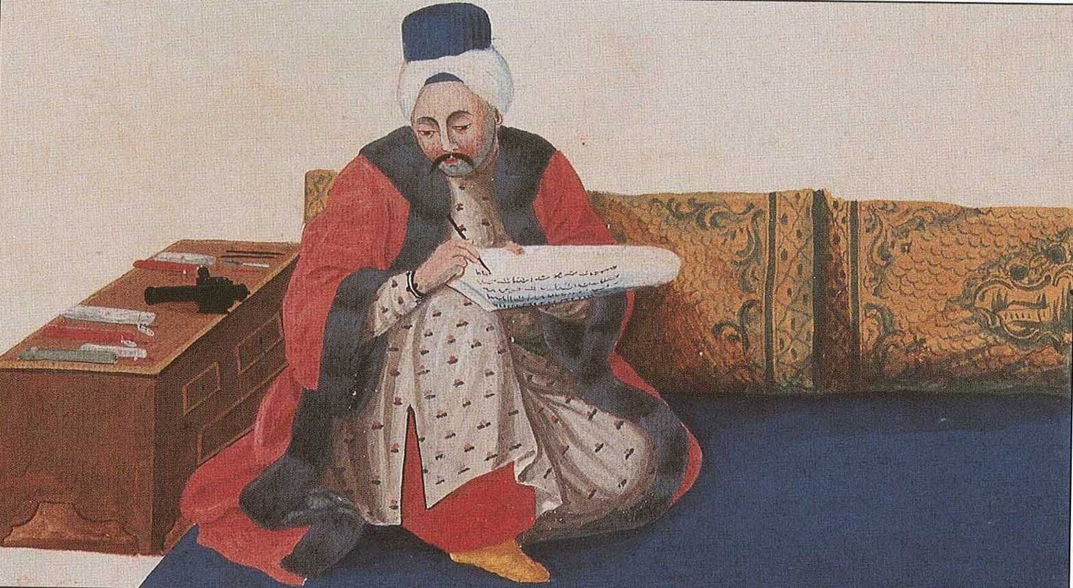 A painting of an Ottoman u201ckatipu201d (senior clerk) who was one of the officials conducted censuses in the Ottoman Empire.