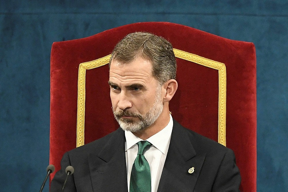 King Felipe of Spain attends the Princess of Asturias Awards ceremony at the Campoamor Theatre, Oviedo, Spain, Oct. 20, 2017. (AFP Photo)