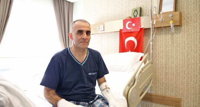 Col. Ala taken to the intensive care unit where he underwent treatment for 10 days, after wounded in coup attempt.