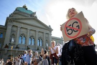 Swiss protesters oppose 5G wireless over health concerns