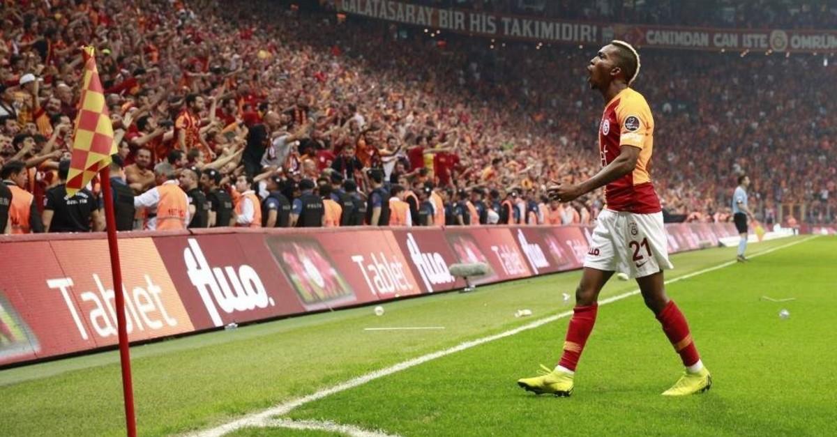 Galatasaray's Onyekuru celebrates after scoring a goal against Medipol Ba?ak?ehir, Istanbul, May 19, 2019. (AA Photo)