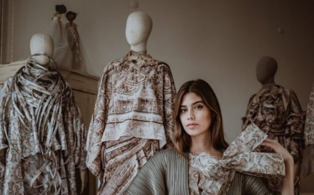 Özlem Süer's collection takes its inspiration from Göbeklitepe, the zero point in time for human history.