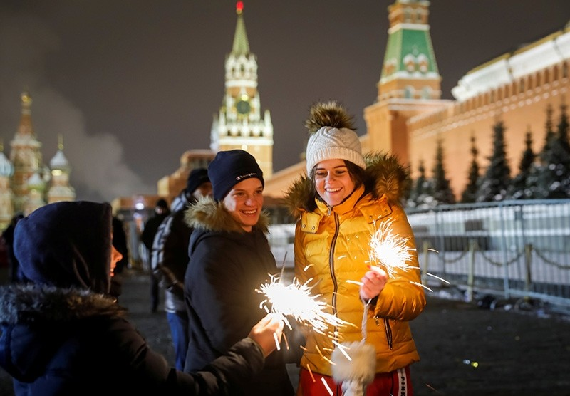 People around the world welcome 2019